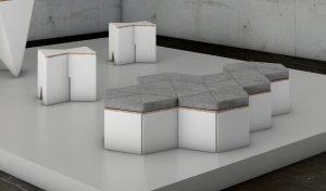 Puff hexa cardboard