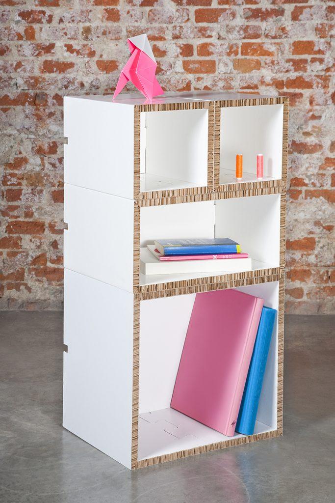 QUADRUM PACK-estanteria-carton-modular-cardboard-shelves-oferta-navidad