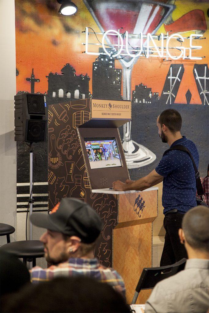 arcade personalizada cartón eventos marca