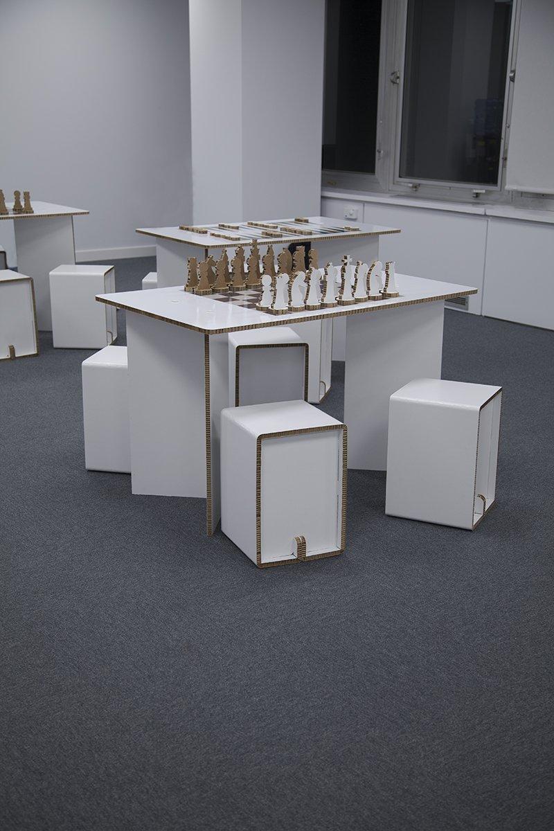 Mesas de cart n personalizadas - Mesas de carton ...
