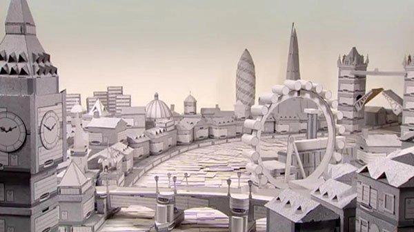 La ciudad de Londres de cartón de Chris Gilmour. Fuente: www.chrisgilmour.com/projects.php