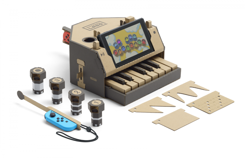 Cardboard-toy-con-cartón-Nintendo-Labo-piano-kit-variado-Blog